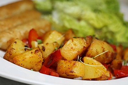 Bratkartoffeln mit Paprika 3