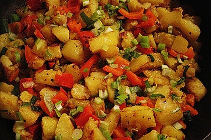 Bratkartoffeln mit Paprika 6