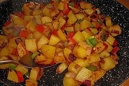 Bratkartoffeln mit Paprika 7