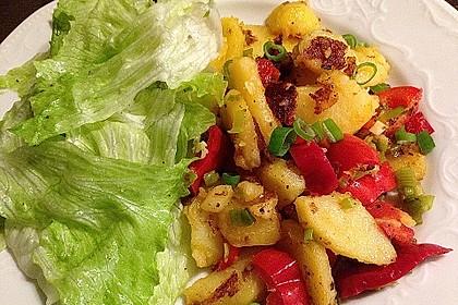 Bratkartoffeln mit Paprika 4