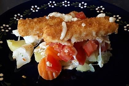 Schneller  Brokkoli - Kartoffel - Auflauf mit Fischstäbchen