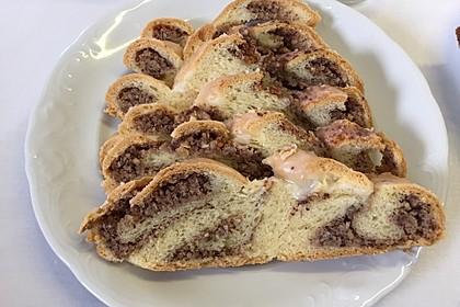 Nusszopf (Rezept von einem Bäckermeister) 15
