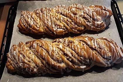 Nusszopf (Rezept von einem Bäckermeister) 3