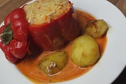 Gefüllte Paprika mit Reis und Hühnchen 1