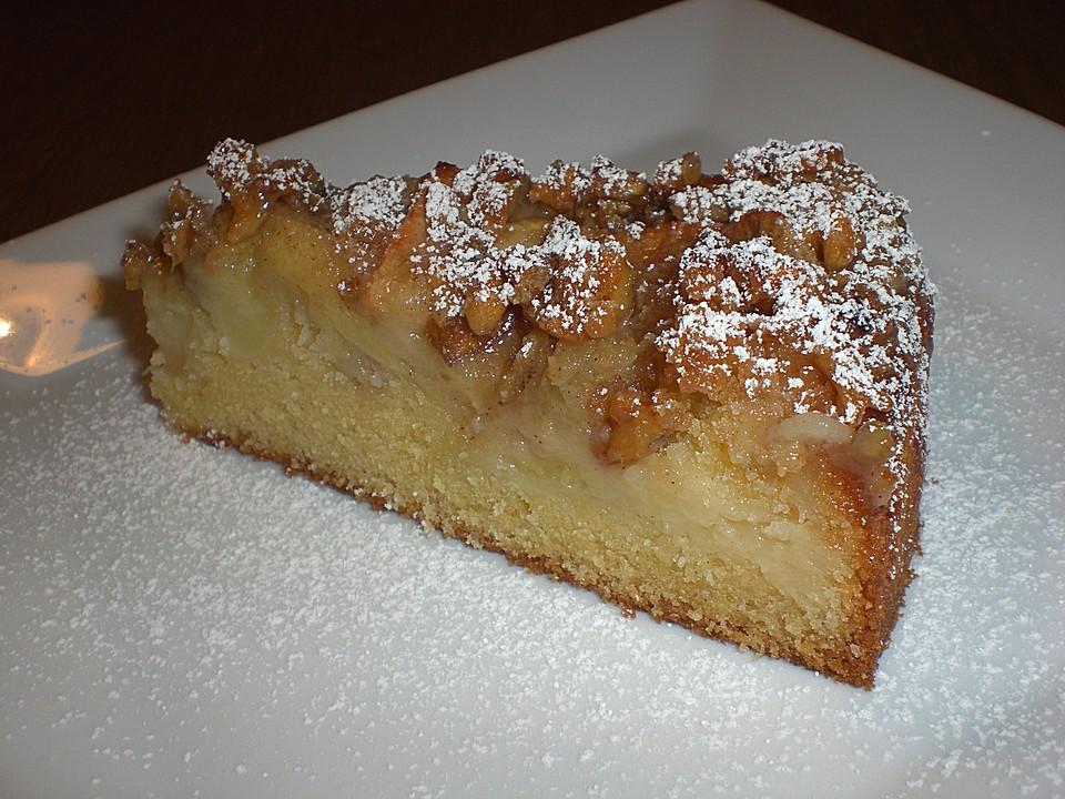 Apfelkuchen Mit Walnuss Karamell Von Douceur Chefkoch De