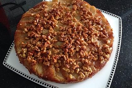 Apfelkuchen mit  Walnuss - Karamell (Bild)