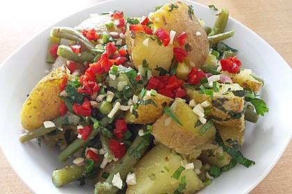 Libanesischer Kartoffelsalat würzig - pikant 4
