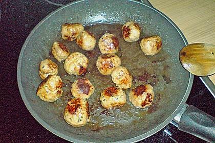 Reispfanne mit Champignons und grober Bratwurst 6