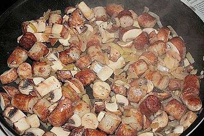 Reispfanne mit Champignons und grober Bratwurst 7
