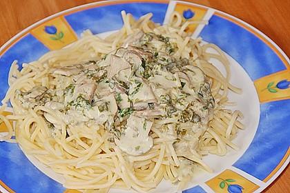 Bärlauch - Spaghetti mit Champignons
