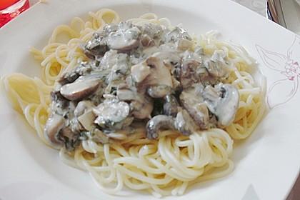 Bärlauch - Spaghetti mit Champignons 3