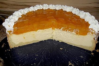 Quarkkuchen mit Mandarin-Orangen 1