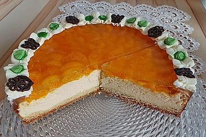 Quarkkuchen mit Mandarin-Orangen