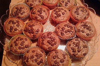 Saftige Schoko - Bananen - Muffins 14