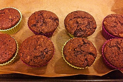 Saftige Schoko - Bananen - Muffins 17