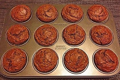 Saftige Schoko - Bananen - Muffins 12