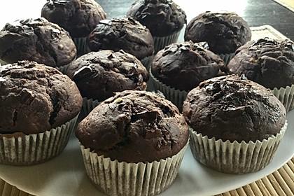 Saftige Schoko - Bananen - Muffins 3