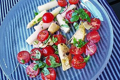 Spargelsalat mit Artischocken - Tomaten - Dressing