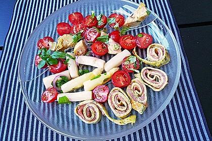 Spargelsalat mit Artischocken - Tomaten - Dressing 1