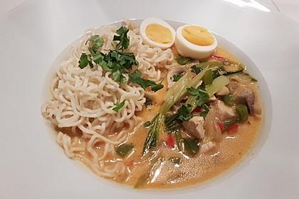Pikante Thai Suppe mit Kokos und Hühnchen 26
