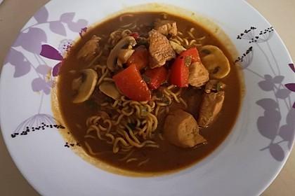 Pikante Thai Suppe mit Kokos und Hühnchen 75