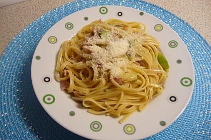 Spargel mit Schinken und Pasta 11