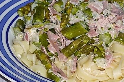 Spargel mit Schinken und Pasta 17