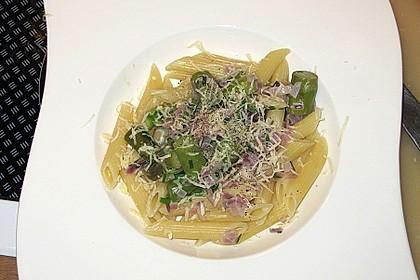 Spargel mit Schinken und Pasta 14