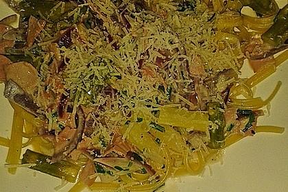 Spargel mit Schinken und Pasta 20