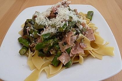 Spargel mit Schinken und Pasta 5