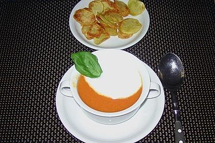 Tomaten - Ingwer - Cappuccino (mit Kartoffel - Chips) 1