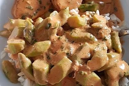 Spargel in rosa Basilikum - Käse - Sauce mit Filet vom Schwein, Huhn oder Pute (Bild)