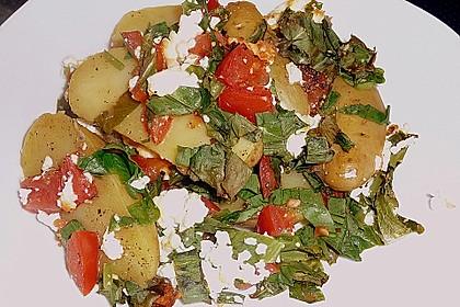 Kartoffeln mit Bärlauch - Schafskäse - Kruste 5