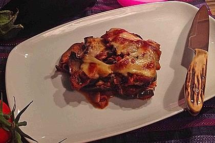 Auberginen - Auflauf mit Mozzarella auf Tomatenbett 5