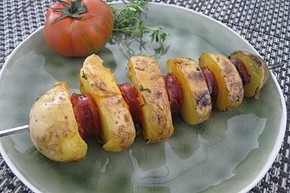 Spanische Kartoffelspieße 5