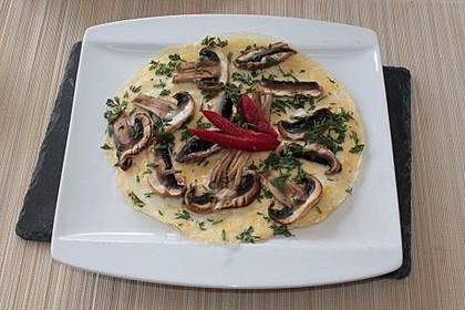 Pizza-Omelette mit Champignons 5