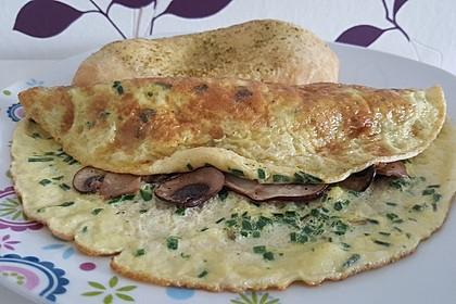 Pizza-Omelette mit Champignons 3