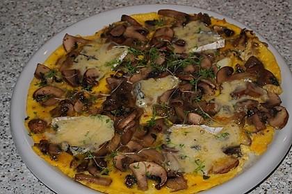 Pizza-Omelette mit Champignons 1