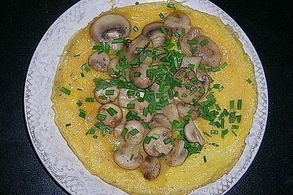 Pizza-Omelette mit Champignons 9