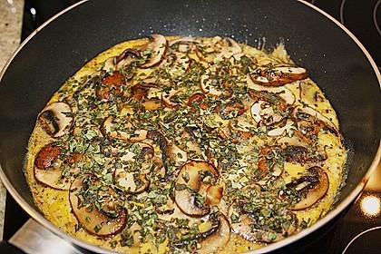 Pizza-Omelette mit Champignons 2