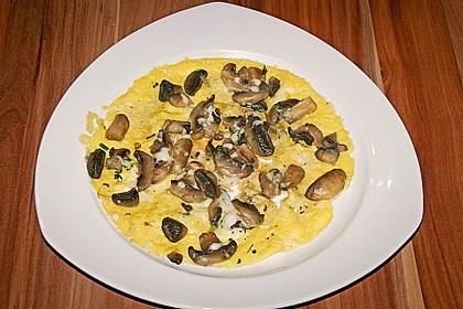 Pizza-Omelette mit Champignons 8
