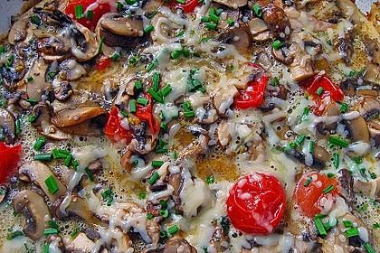 Pizza-Omelette mit Champignons 4