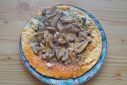 Pizza-Omelette mit Champignons 12