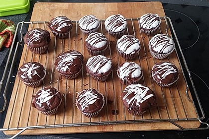 Schoko - Schoko - Muffins (Bild)