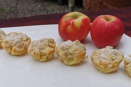 Leckere Apfel - Streusel - Muffins (Bild)