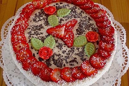 Erdbeer - Quark - Torte
