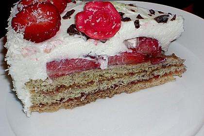 Erdbeer - Quark - Torte 1