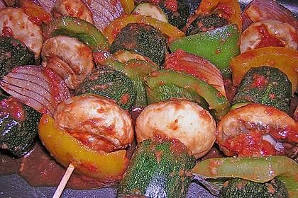 Schaschlik vegetarisch 39