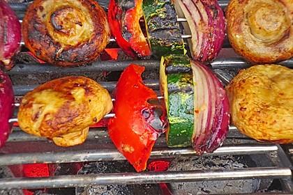 Schaschlik vegetarisch 42