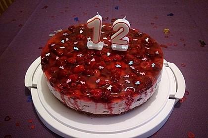 Himbeer Stracciatella Torte 8